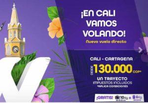 Vuelos Directos entre Cali y Cartagena con Wingo Colombia