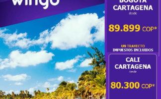 Viaja a Cartagena desde $89.899 COP con Wingo